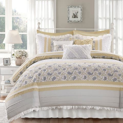 Madison Park Vanessa 9 Piece Cotton Percale Comforter Set