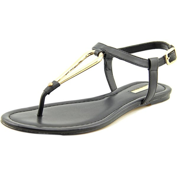 BCBGeneration Funky Women Open Toe Synthetic Black Thong Sandal