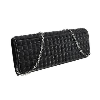 Glossy Black Faceted Pyramid Stud Satin Clutch Purse|https://ak1.ostkcdn.com/images/products/is/images/direct/ee58ee3ecdd5796cadbf737239dd5860a43741a8/Glossy-Black-Faceted-Pyramid-Stud-Satin-Clutch-Purse.jpg?impolicy=medium