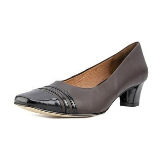 Auditions Classy Women  Square Toe Suede Brown Heels