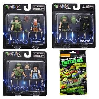 Aliens Minimates Series 1 2-Pack: Set of 8 - multi