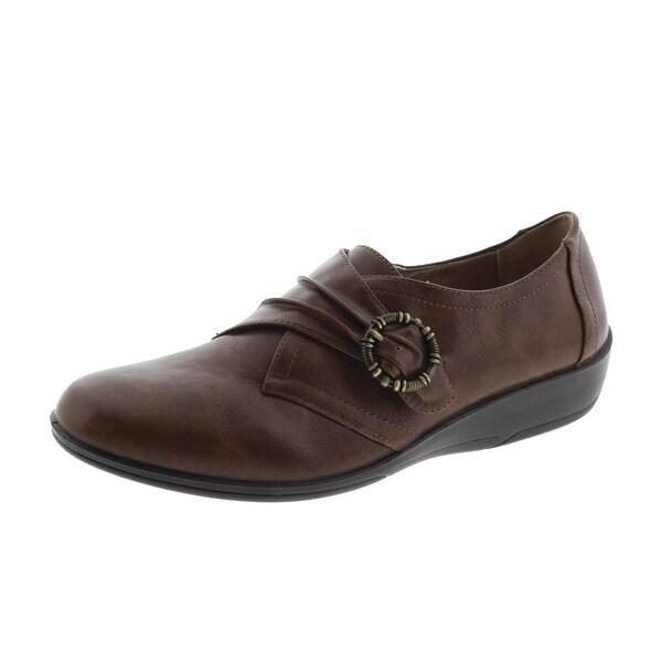 LifeStride Womens Imagine Faux Leather Memory Foam Casual Shoes