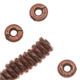 TierraCast Copper Plated Pewter Kenyan Heishe Beads 4.6mm (20)