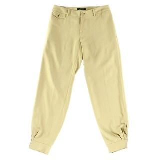Lauren Ralph Lauren NEW Beige Womens Size 10 Crepe Tapered Dress Pants