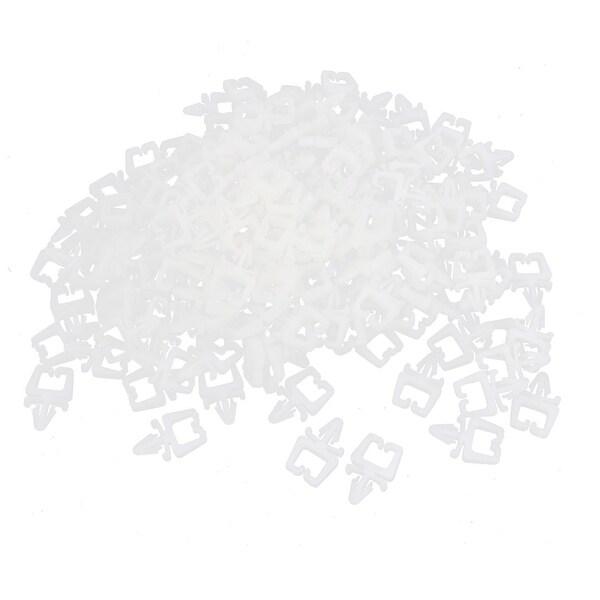 Unique Bargains 1000 Pcs White Plastic 9mm Diameter Electric Wire ...