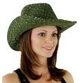 Glitter Sequin Trim Cowboy Hat for Ladies - Thumbnail 42