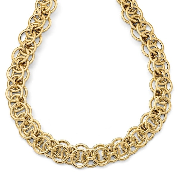 Italian 14k Gold Fancy Link Necklace - 18 inches