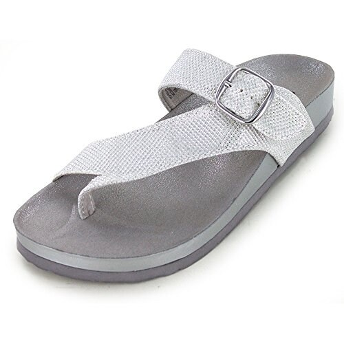White Mountain Womens Henri Split Toe Casual Slide Sandals