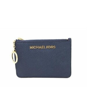 Michael Kors Saffiano Leather Jet Set Small TZ Coin Pouch Card Case with ID Window