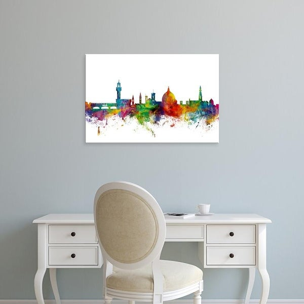 Easy Art Prints Michael Tompsett's 'Florence Italy Skyline' Premium Canvas Art
