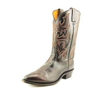 Tony Lama Americana Men Pointed Toe Leather Brown Western Boot