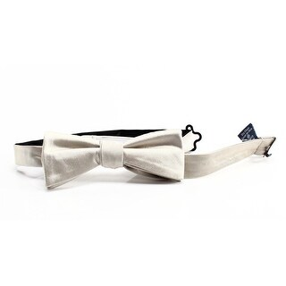 RYAN SEACREST DISTINCTION NEW Ivory Solid Mens Pre-tied Silk Bowtie