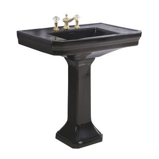 Renovator's Supply Large Victorian Black Vitreous China Pedestal Sink