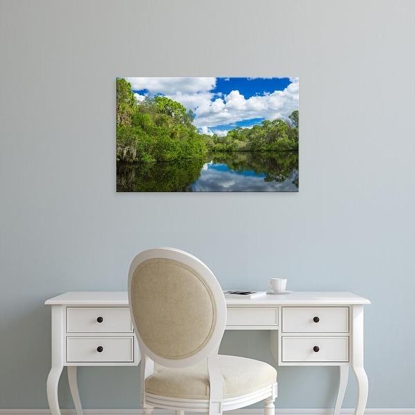 Easy Art Prints Panoramic Image 'South Creek, Oscar Scherer Park, Nokomis, Sarasota, Florida' Canvas Art