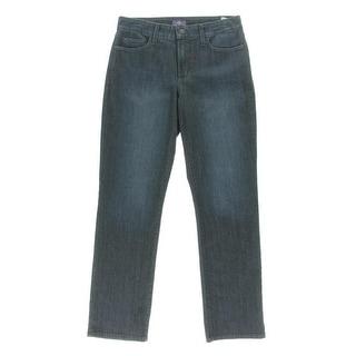 NYDJ Womens Lift-Tuck Technology Mid -Rise Straight Leg Jeans - 0