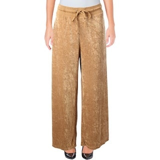 Free People Womens Wide Leg Pants Velour Pull On - S