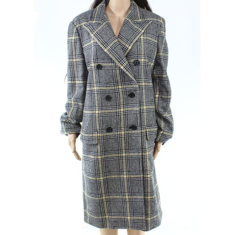 Lauren by Ralph Lauren Womens Jacket Gray Size 14 Double Breasted Plaid