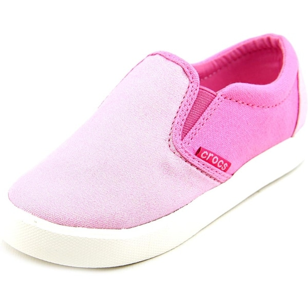 Crocs CitiLane Slip-on Youth Round Toe Canvas Sneakers