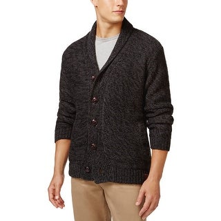 Weatherproof Shawl Collar Sherpa Lined Cardigan Charcoal Heather X-Large - XL