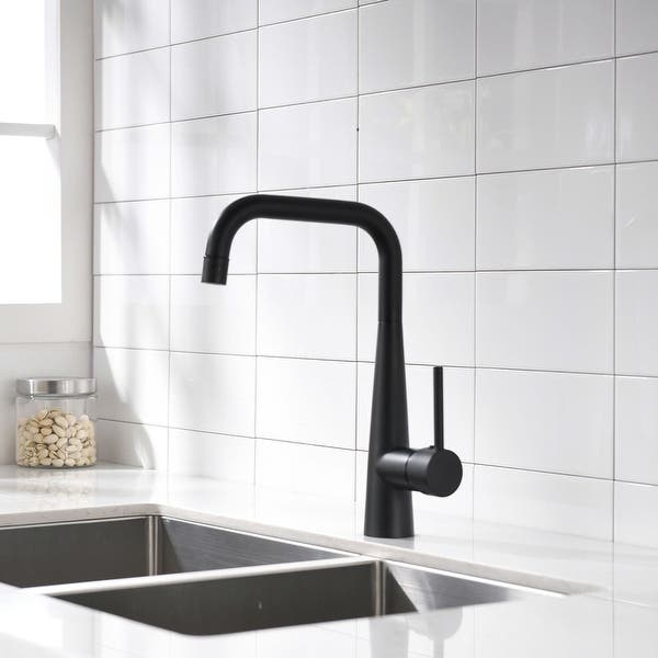 Single Handle Kitchen Faucet 360 Degree Rotation With Solid Brass Body Overstock 32424265
