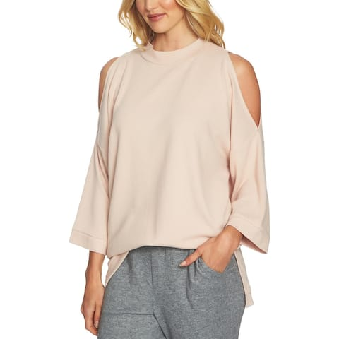 1.State Womens Tunic Top Wide Sleeves Cold Shoulder