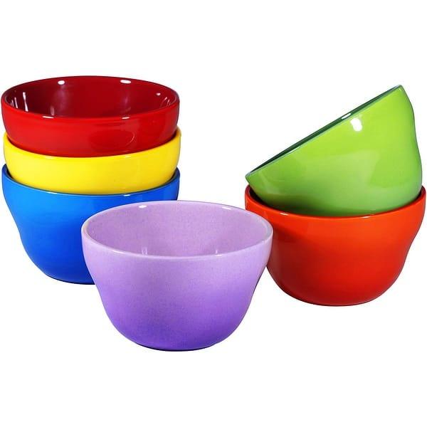 Porcelain Dessert Bowls Set 8 Oz Durable Ceramic Bowls Set Of 6 Overstock 29473638