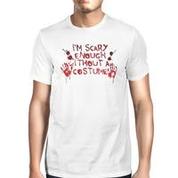 Without A Costume Bloody Hands Mens Funny T-Shirt For Halloween