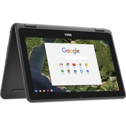 """Dell Chromebook 11 - 3189 Intel Celeron N3060 X2 1.6GHz 4GB 16GB 11.6"""" Touch,Black(Refurbished)"""