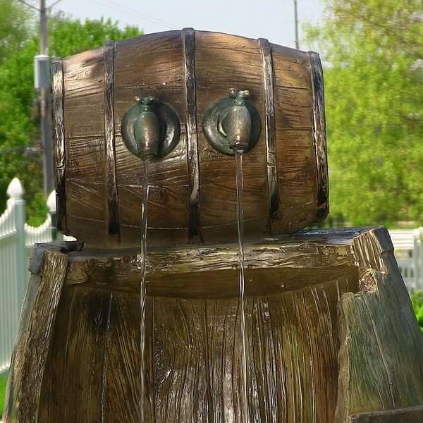Shop Sunnydaze Old Time Saloon Barrel Outdoor Water Fountain