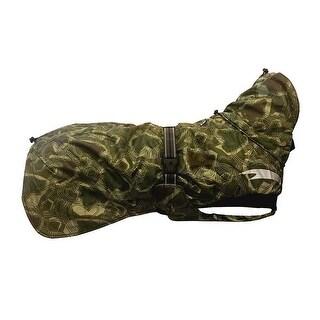 Hurtta Outdoors 24 inch Green Camo Dog Summit Parka