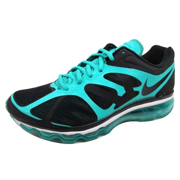 Nike Men's Air Max + 2012 Black/Black-New Green 487982-004