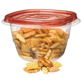 Rubbermaid 7H93-RE-TCHIL Deep Square Containers, 16.9 Oz, Clear Base