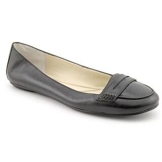 Nine West Open Sesame Women Moc Toe Leather Black Loafer