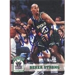 Derek Strong Milwaukee Bucks 1993 Hoops Autographed Card This item comes with a certificate of authenticity from Auto