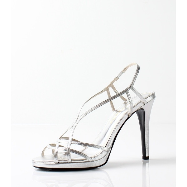 Caparros NEW Silver Women's Shoes Size 10M Sunday Strappy Sandal