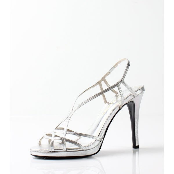 Caparros NEW Silver Women's Shoes Size 9.5M Sunday Strappy Sandal