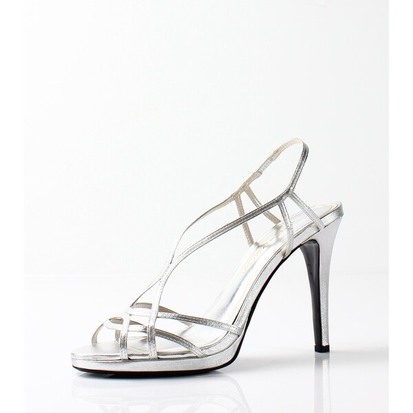 Caparros NEW Silver Women's Shoes Size 9M Sunday Strappy Sandal