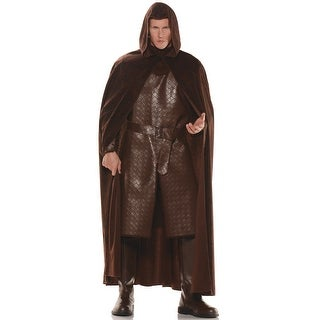 Underwraps Deluxe Hooded Cape (Brown) - Brown