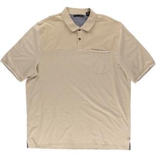 Sean John Mens Big & Tall Pique Contrast Trim Polo Shirt - 3XL