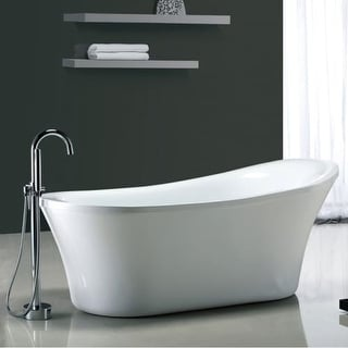 "Miseno MT7035FSO 70-1/16"" Slipper Style Soaking Bathtub for Free Standing Installations with Reversible Drain - Drain Assembly"