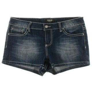 ZCO Jeans Womens Juniors Embellished Pocket Stretch Denim Shorts - 13