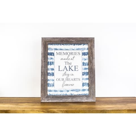 Memories Made At The Lake Stay In Our Hearts Forever Framed Art Decor