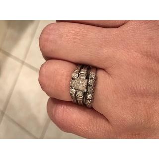 10k White Gold 1/2ct TDW 5-stone Diamond Wedding Ring