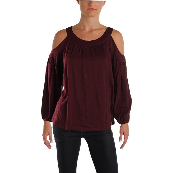 ada832a9ff0e92 Shop Lauren Ralph Lauren Womens Blouse Silk Cold Soulder - XS - Free  Shipping On Orders Over $45 - Overstock - 25636285