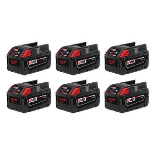 Replacement 3000mAh Battery for Milwaukee 0721-21 / 0740-22 Battery Models (6 Pk)
