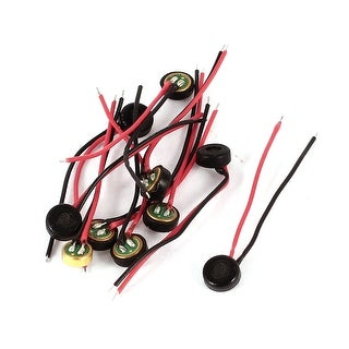 10Pcs Double Wire Leads Electret Condenser Microphone Pick-up 4mm x 2mm