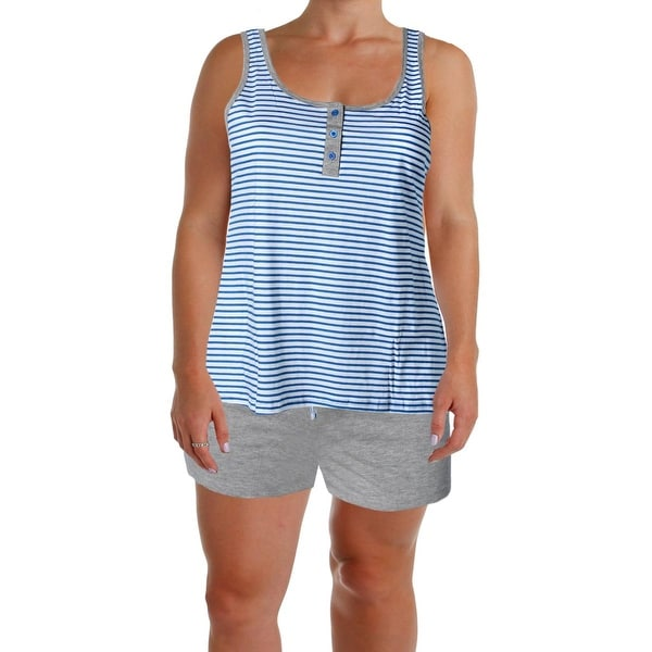 Body Frosting Womens Plus Pajama Set Cotton 2PC