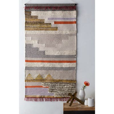 """Aalis Cream 36"""" x 60"""" Traditional Decorative Tapestry"""