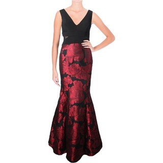 Aqua Womens Semi-Formal Dress Brocade Ballgown