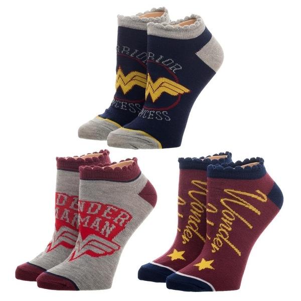 Wonder Woman 3 Pair Ankle Socks